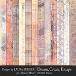 Dream Create Escape Grunge Papers-$4.99 (Laura Burger)