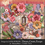 Dream Create Escape Combo Pack-$9.99 (Laura Burger)