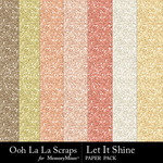 Let It Shine Glitter Sheets Pack-$1.75 (Ooh La La Scraps)