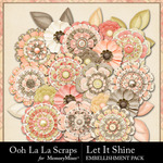 Let It Shine Flowers Pack-$2.49 (Ooh La La Scraps)