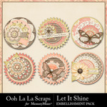 Let It Shine Cluster Seals Pack-$2.49 (Ooh La La Scraps)