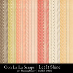 Let it shine pattern papers small