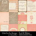 Let It Shine Pocket Scrap Cards Pack-$1.75 (Ooh La La Scraps)