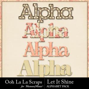Let it shine alphabets medium