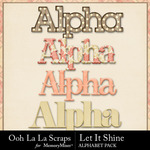 Let it shine alphabets small