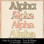 Let It Shine Alphabet Pack-$3.49 (Ooh La La Scraps)