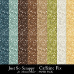 Caffeine Fix Glitter Paper Pack-$2.49 (Just So Scrappy)