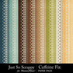 Caffeine Fix Pattern Paper Pack-$1.75 (Just So Scrappy)