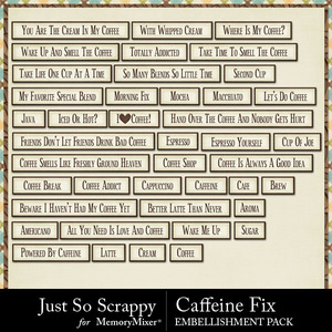 Caffeine fix word strips medium