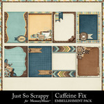 Caffeine Fix Journal Cards Pack-$1.75 (Just So Scrappy)