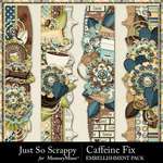 Caffeine Fix Page Borders Pack-$2.49 (Just So Scrappy)