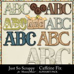 Caffeine Fix Alphabet Pack-$3.49 (Just So Scrappy)