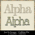 Caffeine fix kit alphabets small