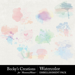 Watercolor paint spots 2 small