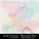 Watercolor paint spots small