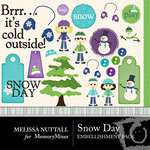 Snow Day Embellishment Pack-$3.00 (Melissa Nuttall)