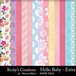 Hello baby extra papers medium