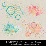 Icecream Shop Scatterz Pack-$2.49 (Lindsay Jane)