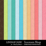 Icecream Shop Embossed Paper Pack-$1.75 (Lindsay Jane)