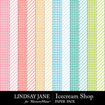 Icecream Shop Pattern Paper Pack-$1.75 (Lindsay Jane)