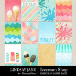 Icecream Shop Journal Cards Pack-$1.75 (Lindsay Jane)
