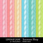 Icecream Shop Glitter Paper Pack-$2.49 (Lindsay Jane)