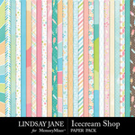 Icecream Shop Paper Pack-$2.10 (Lindsay Jane)