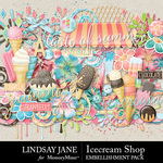 Icecream Shop Embellishment Pack-$2.45 (Lindsay Jane)
