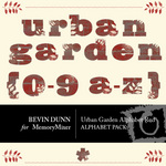 Urban garden alphabet red small