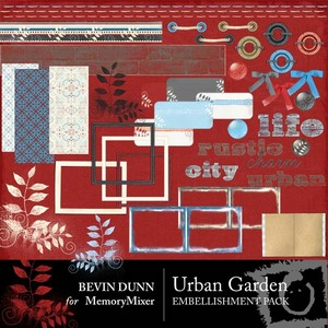 Urban garden embellishment pack medium