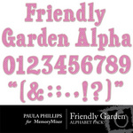 Friendly Garden Alphabet Pack-$1.99 (Paula Phillips)