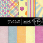 Friendly Garden Paper Pack-$2.00 (Paula Phillips)