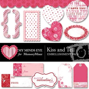 Kiss and tell embellishment pack medium