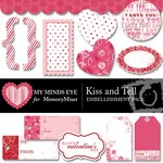 Kiss and tell embellishment pack small