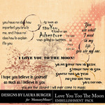 Love you to the Moon WordArt Pack-$4.99 (Laura Burger)