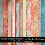 Love you to the Moon Artsy Paper Pack-$3.50 (Laura Burger)
