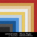 Movie Night LJ Embossed Paper Pack-$2.49 (Lindsay Jane)