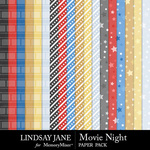 Movie Night LJ Pattern Paper Pack-$2.49 (Lindsay Jane)