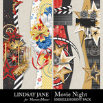 Movie Night LJ Borders Pack-$2.49 (Lindsay Jane)