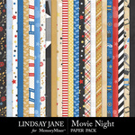 Movie Night LJ Paper Pack-$2.99 (Lindsay Jane)