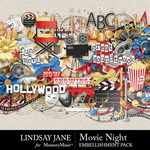 Movie Night LJ Embellishment Pack-$3.49 (Lindsay Jane)