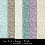 Faith glitter papers small
