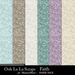 Faith Glitter Paper Pack-$2.49 (Ooh La La Scraps)