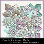 Faith Flowers Pack-$2.49 (Ooh La La Scraps)