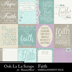 Faith Pocket Scrap Cards Pack-$2.49 (Ooh La La Scraps)