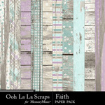Faith Wood Paper Pack-$2.49 (Ooh La La Scraps)