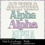 Faith alphabets small