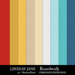 Boardwalk Embossed Paper Pack-$2.49 (Lindsay Jane)