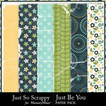 Just Be You Worn Paper Pack-$2.49 (Just So Scrappy)