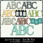 Just Be You Alphabet Pack-$3.49 (Just So Scrappy)